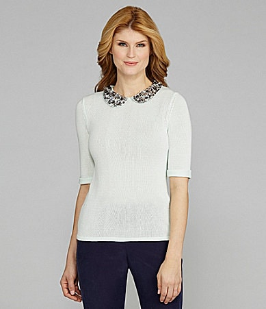 Antonio Melani Avery Peter Pan Collar Sweater