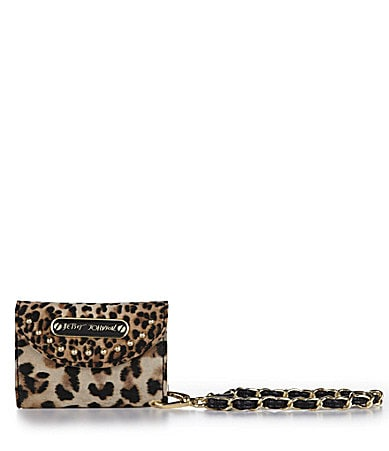 Betsey Johnson Cheetah Mix Up Smartphone Wallet
