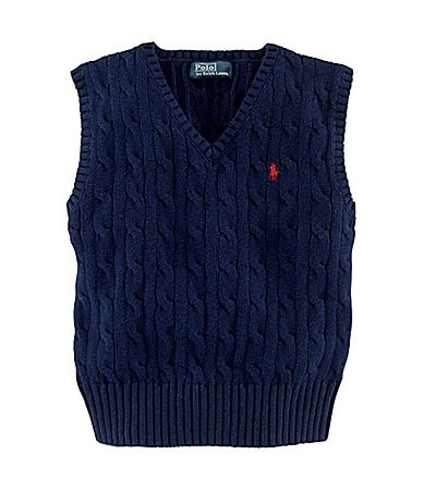 Ralph Lauren Childrenswear 2T-7 Cable Knit Sweater