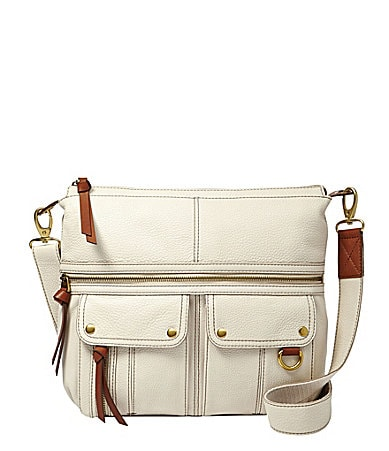 Fossil Morgan North-South Top Zip Cross-Body Tote