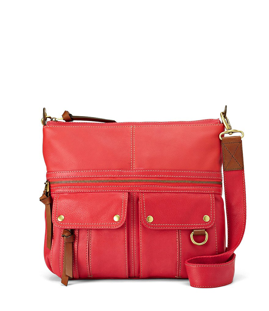 Fossil Morgan North-South Top Zip Cross-Body Bag