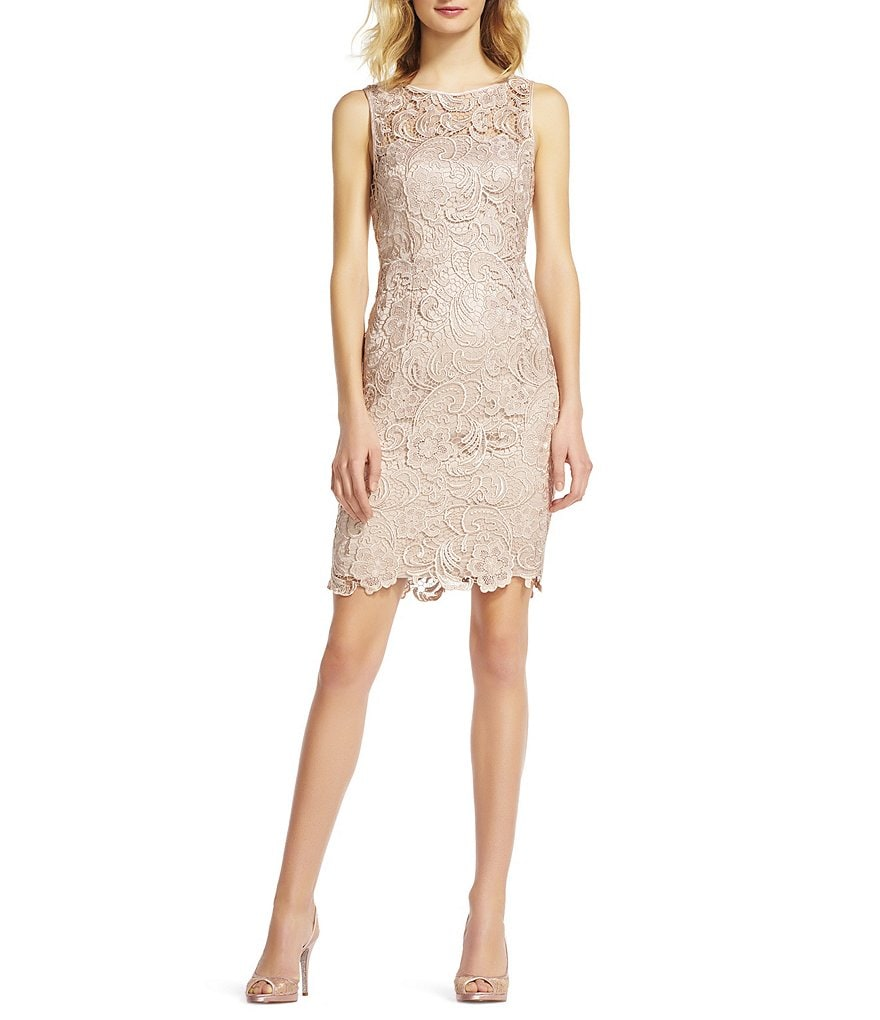 Adrianna Papell Sleeveless Lace Dress