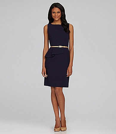 Antonio Melani Tiago Belted Peplum Dress