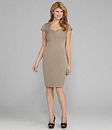 Antonio Melani Hadlo Cap-Sleeve Herringbone Dress