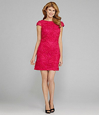 Antonio Melani Numa Cap-Sleeve Floral-Mesh Dress