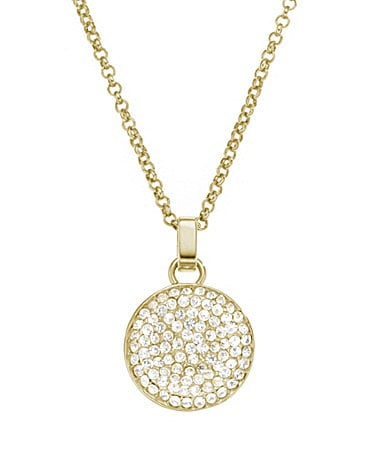 Michael Kors Crystal Pave Pendant Necklace