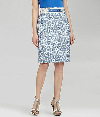 Antonio Melani Bertie Embroidered Pencil Skirt