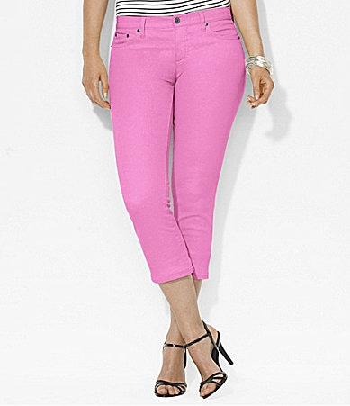 Lauren Ralph Lauren Woman Slimming Modern Straight Cropped Jeans