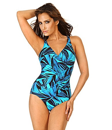 Miraclesuit Blue Savannah Oceanus One-Piece Swimsuit