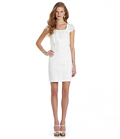 Jessica Simpson Lace Popover Dress