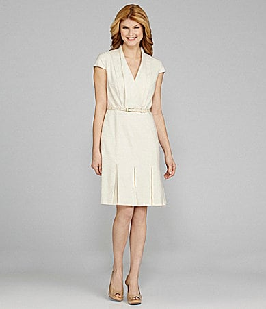 Antonio Melani Jady Cap-Sleeve Belted Dress