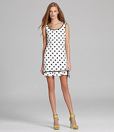 Betsey Johnson Polka-Dot Sheath Dress
