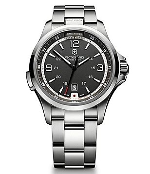 Victorinox Swiss Army Night Vision Analog & Date Stainless Steel Bracelet Watch