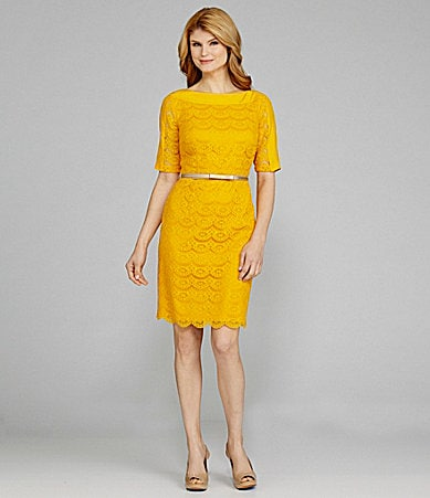 Antonio Melani Celo Belted Lace Dress
