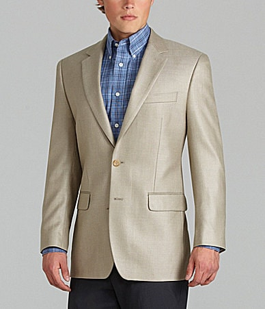 Men Sport Suit Jacket Tan Wool Herringbone Size M 40 Dillard's Two Buttons This is a super nice mens sport jacket. % wool in excellent condition with no signs of wear. The elbow patches are micro-suede.