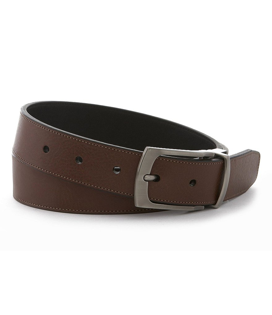 Roundtree & Yorke Big & Tall Contrast-Stitch Reversible Belt