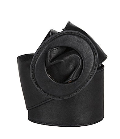 Jessica Simpson Leather Sash Belt