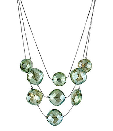 Kenneth Cole New York Faceted Bead Illusion Necklace