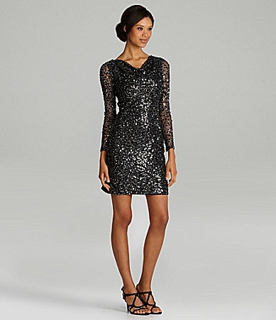 Long Sleeve Sequin Dress on Calvin Klein Long Sleeve Sequin Dress   Dillards Com