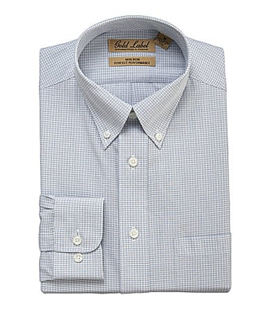 Roundtree & Yorke Gold Label Perfect Performance Checkered Sportshirt