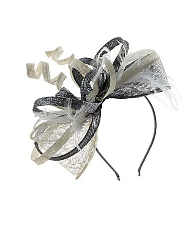 Kate Landry Sinamay Neutral Loop Fascinator