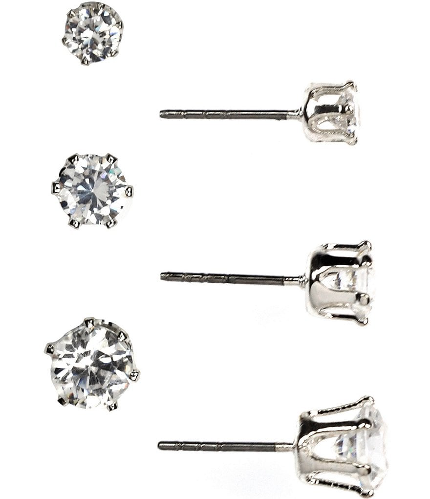 Anne Klein Trio Stud Earrings Set