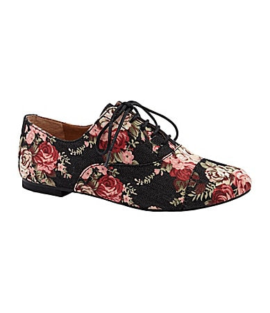 GB Tom-Boy Floral-Print Oxfords