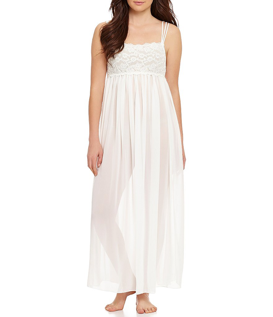 In Bloom by Jonquil Bridal Chiffon Nightgown