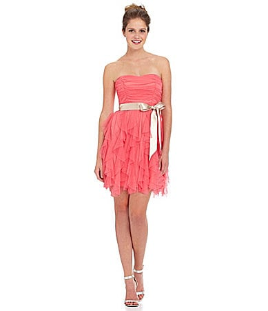 Teeze Me Strapless Corkscrew Dress