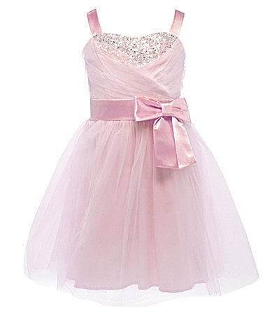 Ruby Rox 7-16 Beaded-Bust Tulle-Skirt Party Dress