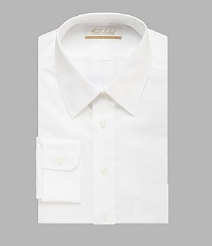 Gold Label Roundtree & Yorke Non-Iron Solid Regular Full-Fit Point-Collar Dress Shirt