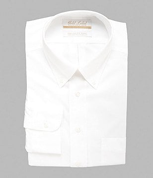 Gold Label Roundtree & Yorke Non-Iron Solid Regular Full-Fit Button-Down Collar Dress Shirt