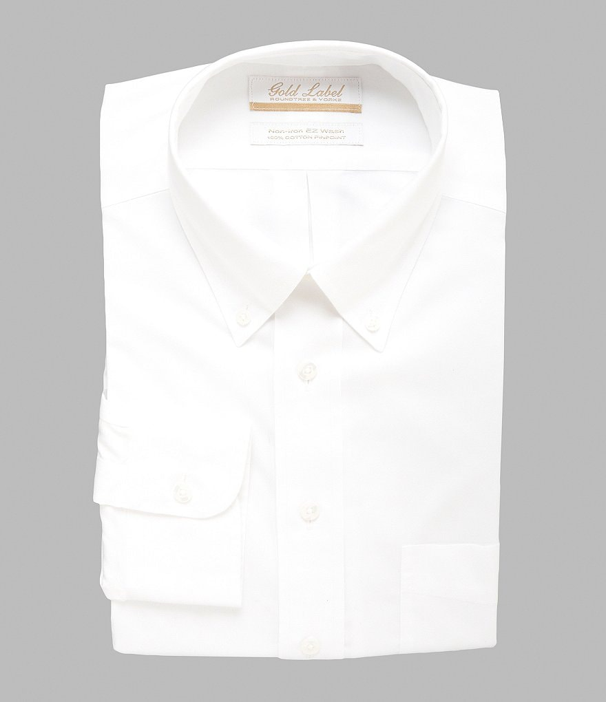 Gold Label Roundtree & Yorke Non-Iron Regular Full-Fit Button-Down Collar Dress Shirt