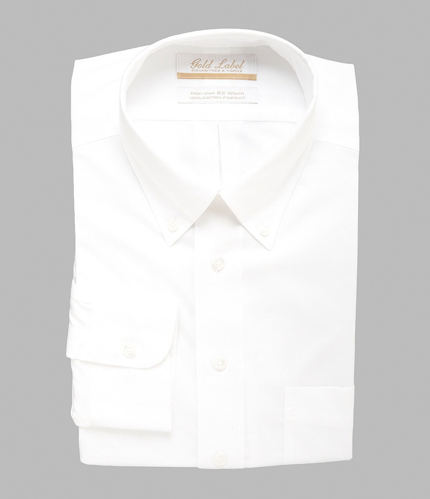 Gold Label Roundtree & Yorke Full-Fit Button-Down Collar Dress Shirt