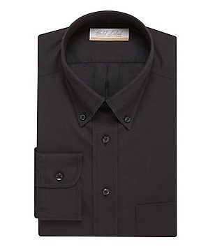 Gold Label Roundtree & Yorke Non-Iron Regular Full-Fit Button-Down-Collar Solid Dress Shirt