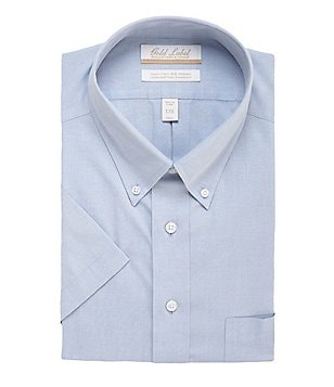 Gold Label Roundtree & Yorke Non-Iron Regular Full-Fit Short-Sleeve Button-Down Collar Dress Shirt
