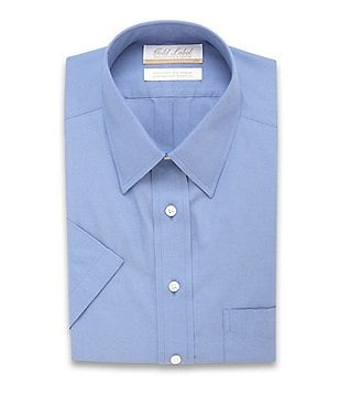Gold Label Roundtree & Yorke Non-Iron Regular Full-Fit Short-Sleeve Point-Collar Dress Shirt