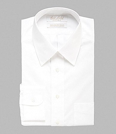 Gold Label Roundtree & Yorke Fitted Point-Collar Dress Shirt