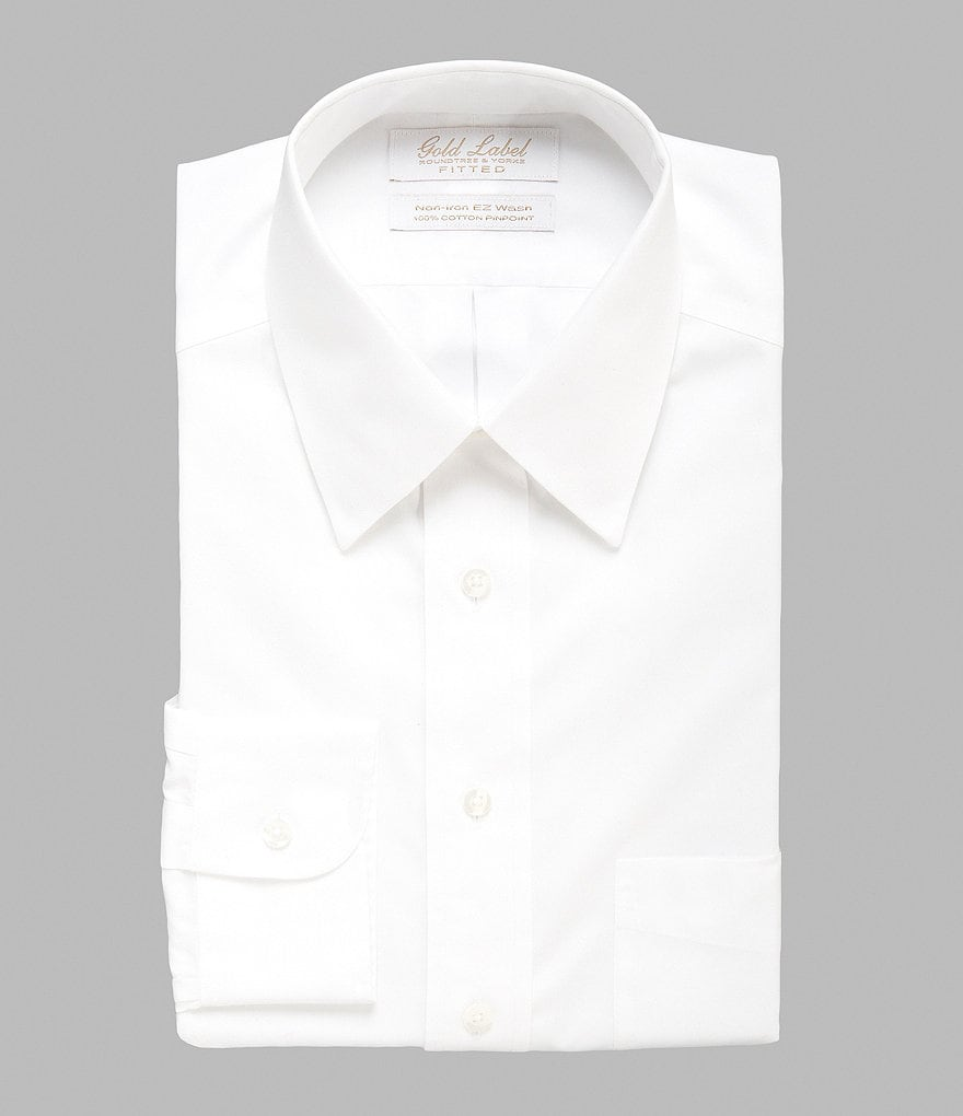 Gold Label Roundtree & Yorke Classic-Fit Point-Collar Dress Shirt