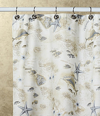 Tommy Bahama Hawaiian Islands Shower Curtain | Dillards.