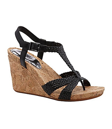 GB Gianni Bini Take-That Braided Wedges