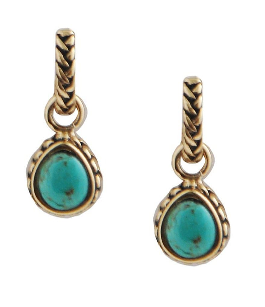 Barse Bronze and Turquoise Earrings
