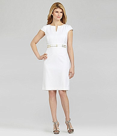 Antonio Melani Quince Shadow-Stripe Dress