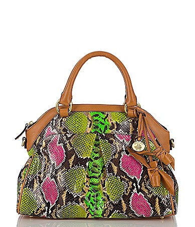 Brahmin Multi Anaconda Louise Rose Satchel