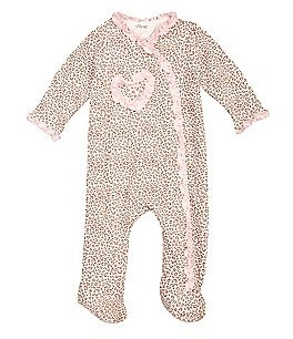 Little Me Baby Girls Newborn-9 Months Leopard Footie Pajamas Image