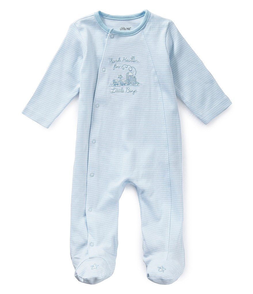 Little Me Baby Boys Preemie-9 Months Thank Heaven for Boys Footed Coverall