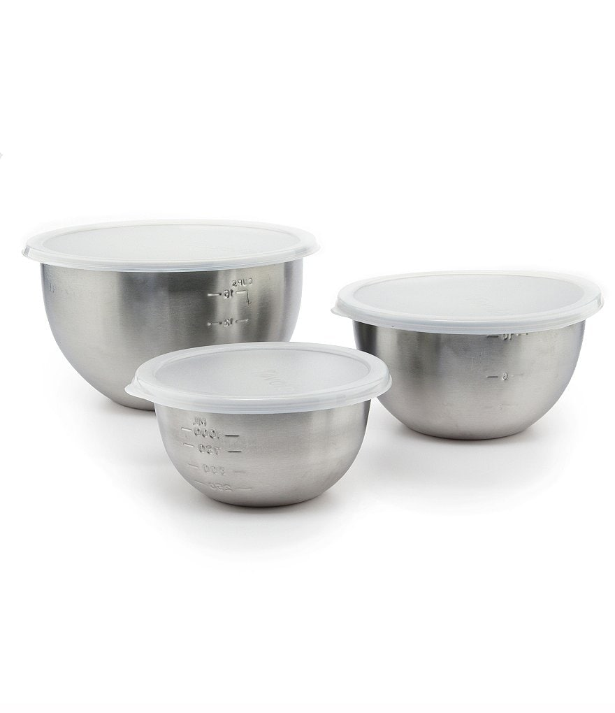 Tovolo Stainless Lidded Mixing Bowl Set