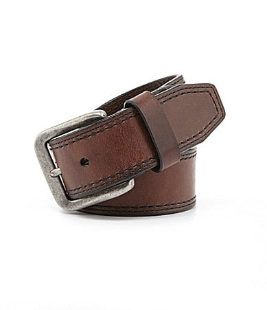Roundtree & Yorke Double Stitch Taper Belt $ 36.00