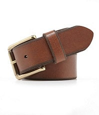 Roundtree & Yorke Embossed-Edge Leather Belt