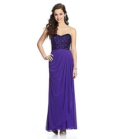 Blondie Nites Strapless Sequin Dress